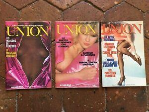 Lotto Di 3 Rivista Union Erotico N°67 N°93 N° 95 1978-1980
