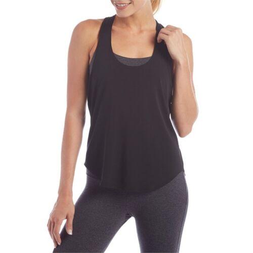 NWT $45 Onzie Yoga Elastic Back Tank Top SHIRT BLACK//PEARL OSFA