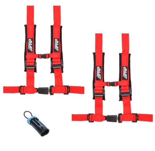 """PRP 4 Point 2/"""" Harness Seat Belts Automotive Style Latch Red Commander Maverick"""