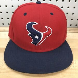 Houston-Texans-Logo-NFL-Football-New-Era-59FIFTY-Red-Fitted-Cap-7-1-2-EUC-Hat