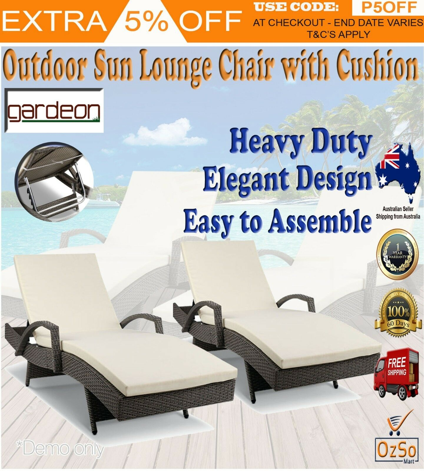 Admirable Details About New 2X Outdoor Sun Lounge Pool Loungers Lounges Furniture Banana Lounger Wicker Beatyapartments Chair Design Images Beatyapartmentscom