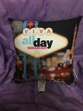mcdonalds pillow Mc Donald's Las Vegas Sign Pillow Viva All Day Breakfast Rare !