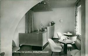 Ansichtskarte-Milchbar-Cafe-Guenthner-Wildbad-innen-50er-Jahre-Einrichtung