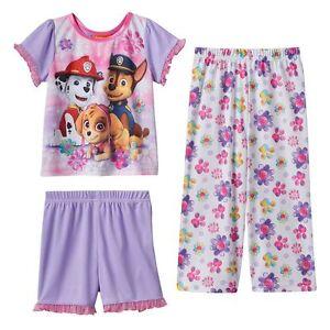 ebd161ea9 Paw Patrol Skye, Chase & Marshall 3-pc. Pajama Set Toddler Girl 4T ...