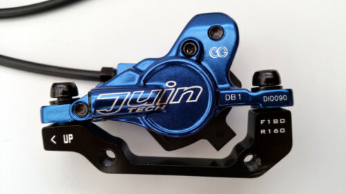 F/&R 160mm Juin Tech DB1 Hydraulic Disc Brake Set Blue