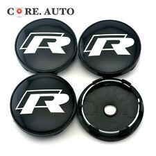 New 60mm / 56mm R Line Car Wheel Center Caps Sticker 4pcs VW Golf Jetta Polo