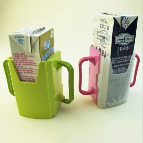 Toddler Adjustable Tool Child Self-Helper Drink Box Holder Handles Cup Milk