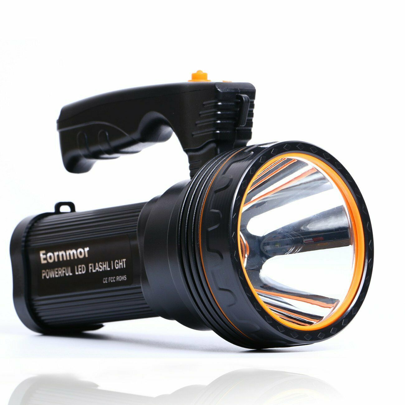 Eornmor Outdoor Handheld Portable Flashlight 6000 Lumens USB Rechargeable