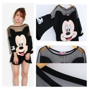 Details about Disney MICKEY MOUSE Loose Black SHIRT Autumn Long Dress Tee  Top PLUS SIZE M-4XL
