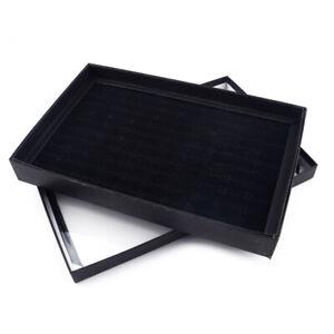 100 Ringe Aufbewahrungsbox Tray Ringbox Show Case Organizer Schmuck Halter