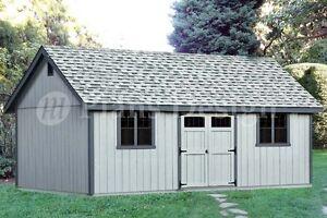 16 39 X 24 39 Reverse Gable Backyard Storage Shed Plans