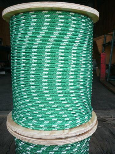 "NovaTech XLE Halyard Sheet Line, Dacron Sailboat Rope 5/16"" x 200' Green/White"