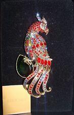 "HEIDI DAUS Crystal Exotic Bird Pin ""Rare Bird"" Colorful Sold-Out NIB (J)"