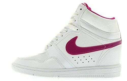 Nike WOMEN'S Force Sky Hi HIDDEN WEDGE SIZE 9.5 NEW Magenta White Pearl RARE