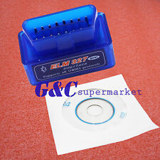 Mini ELM327 V2.1 OBD2 II Bluetooth Diagnostic Car Auto Interface Scanner