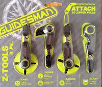 4 Guidesman Z Tools Zip-hex, Blade, Driver, Light Attach Zipper Pull Gdc Gerber
