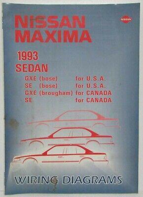 [DIAGRAM_5FD]  1993 Nissan Maxima Sedan GXE and SE Electrical Wiring Diagram Manual - US &  CA | eBay | 1993 Nissan Maxima Wiring Schematic |  | eBay