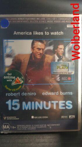 1 of 1 - 15 Minutes - De Niro [ DVD ] BRAND NEW & SEALED, Region 4, FREE Next Day Post