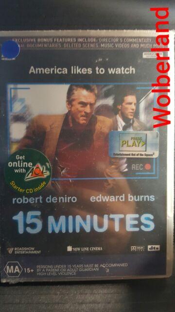 15 Minutes - De Niro [ DVD ] BRAND NEW & SEALED, Region 4, FREE Next Day Post