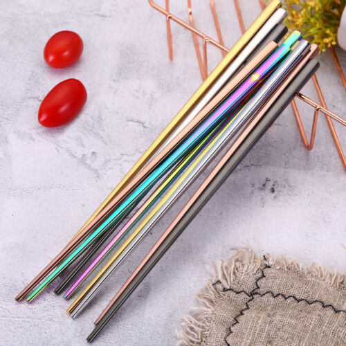 Portable Tools Chinese Chopsticks Metal Stainless Steel For Picnic Reusable Gift