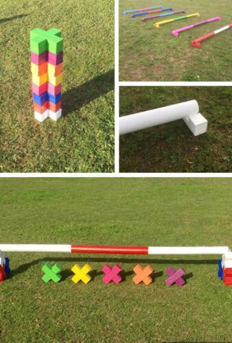 horse show jumps showjump 1 Pair raised trotting polepods Cavaletti X End