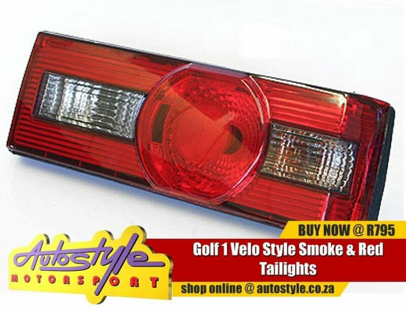Golf 1 Velo Style Smoke - Red Tailights  sold as a pair suitable Volkwagen MK1 cti citi velocity gti