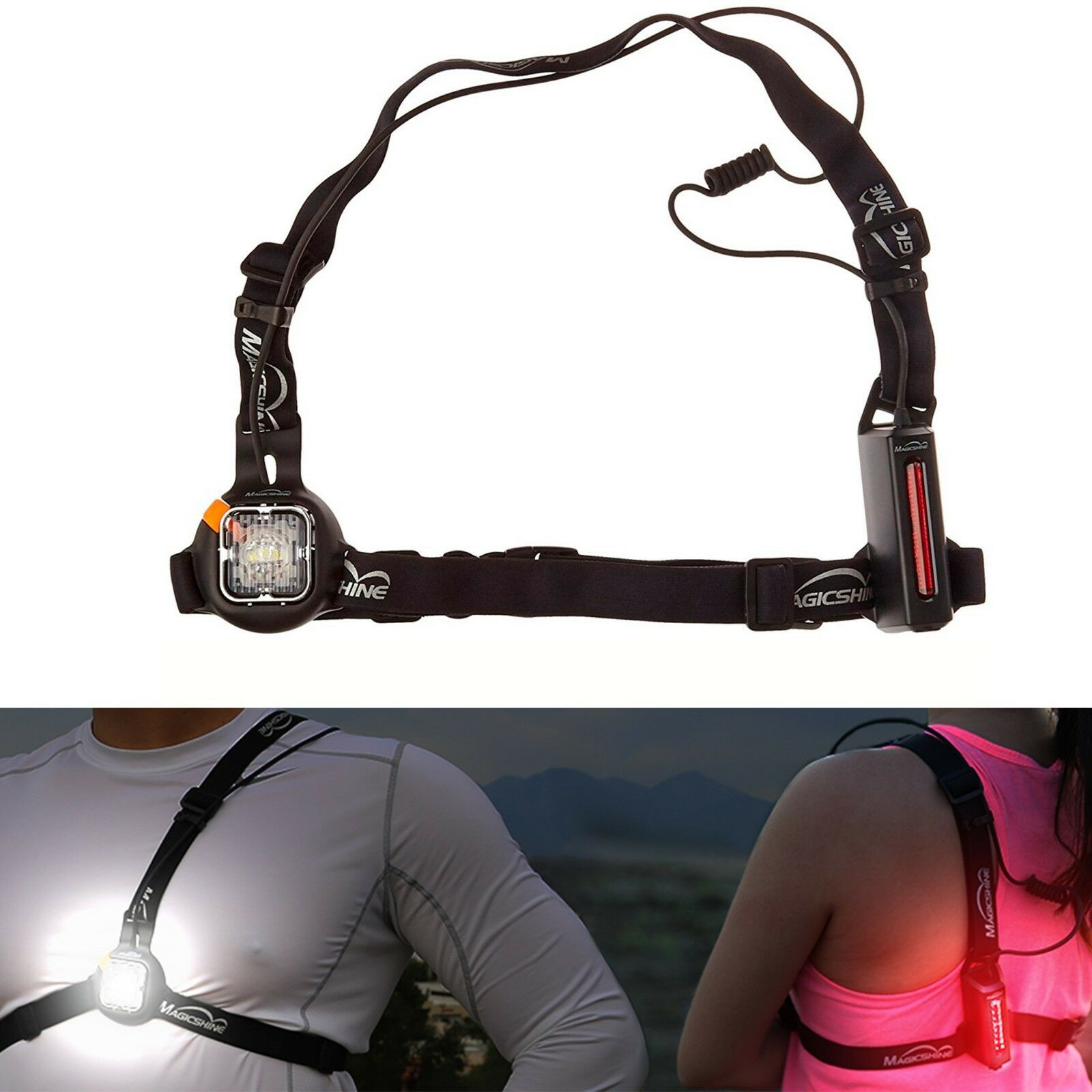 Magicshine MJ-892 USB Rechargeable Running Light Safety & Reflective Light
