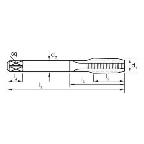Sutton T4871029 NPT 1//8 x 27 Straight Flute Tap Bottoming HSS Colour Temp