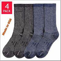 Men's Kirkland Signature 4 Pairs Outdoor Trail Socks Merino Wool Blend Size M L