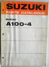 SUZUKI A100-4 Illustrated Motorcycle Parts Catalogue/List  Dec 1971 #99000-91620