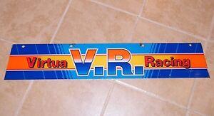 "The Latest Fashion Oem Arcade Game ~ 32 1/2"" X 6"" ~ Used #2 Earnest Virtua Racing ""marquee"" ~ V.r"