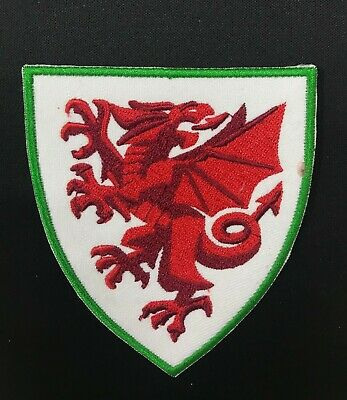 Wales Welsh Football Red Dragon Shirt Football Iron On Embroidered Patch Badge