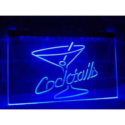 Cocktail LED Neon Bar Sign Home Light up Pub Custom cocktails gin club drink bar