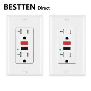 2-Pack-BESTTEN-20AMP-GFCI-GFI-Receptacle-Outlet-Tamper-Resistant-with-Led-ETL