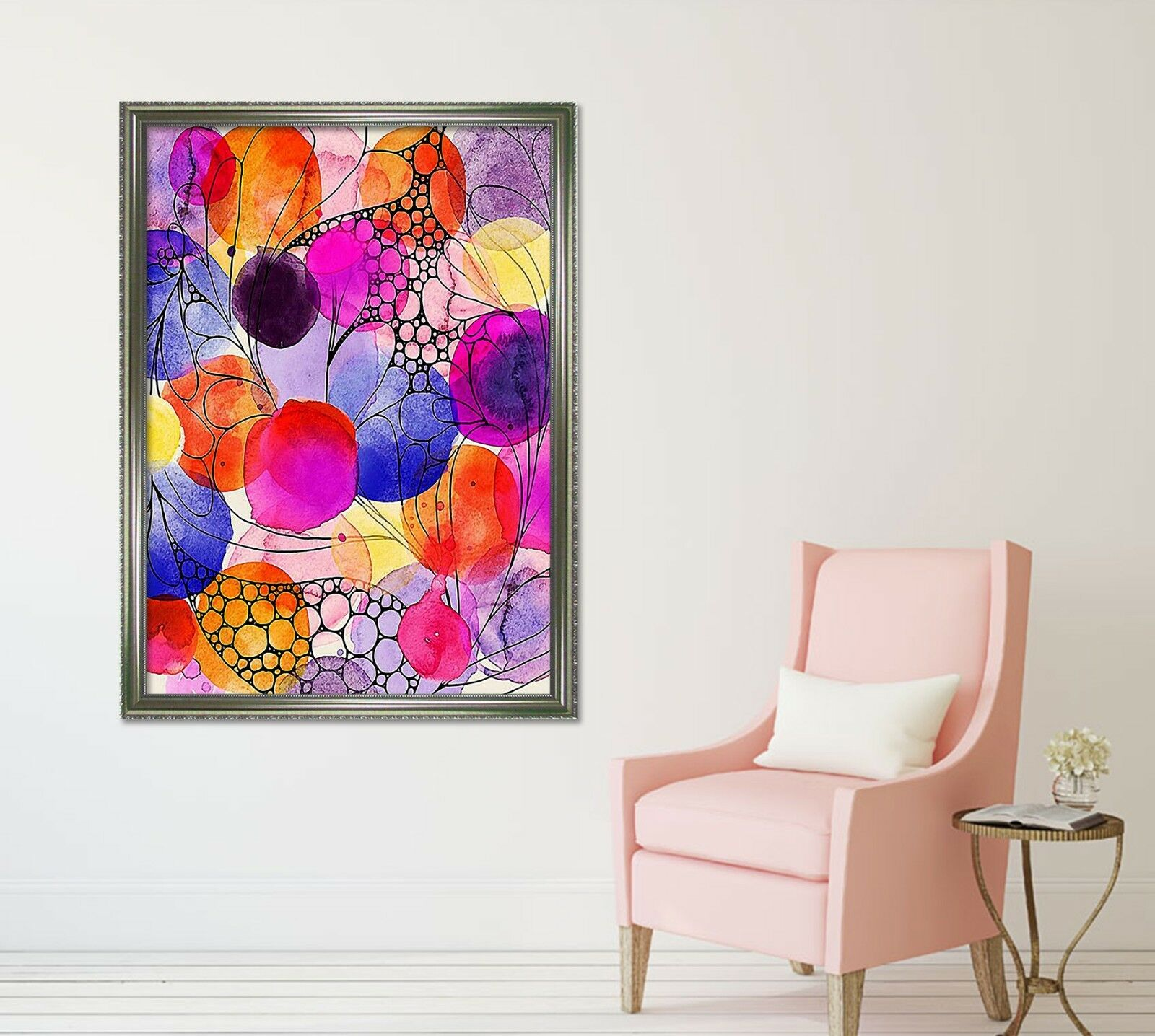 3D WaterFarbe Painting 2 Framed Poster Home Decor Print Painting Art WALLPAPER