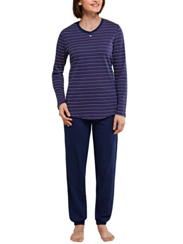 Seidensticker Damen langer Schlafanzug Pyjama Lang 153968