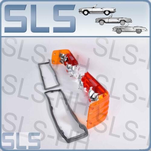 Set Rückleuchtendeckel Mercedes SL R107 Europa mit OEM Dichtungen 782872