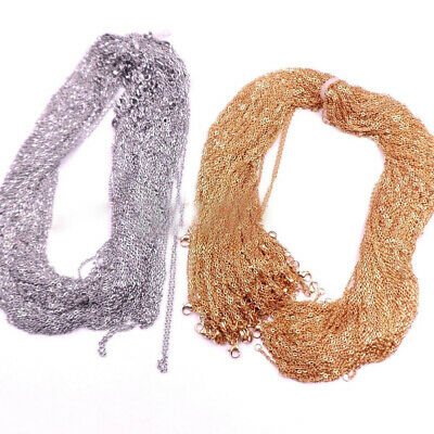 Wholesale In Bulk Hotsale Silver//Gold Stainless Steel Rolo Oval Chain Necklace