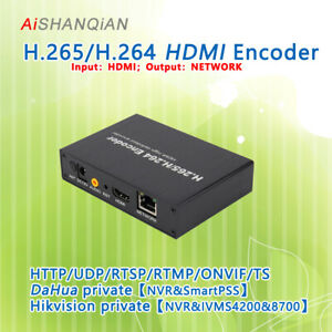 Details about HDMI H 265/H 264 Video Encoder IPTV/RTMP/ONVIF/TS Hikvision  and Dahua protocols