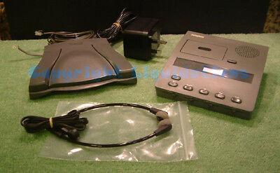 Dictation Machine uses Philips Mini Cassettes Dictaphone 1740-4 Transcription