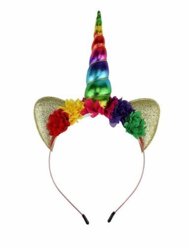 Unicorn Cerchietto Orecchie Cerchietto Per Capelli Fascia Cosplay Festival Horn Costume Danza