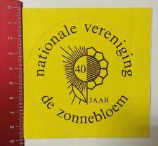 Aufkleber/Sticker: 40 Jaar - Nationale Vereniging - De Zonnebloem (09031659)