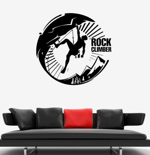Wall Decal Tourism Sport Rock Climbing Extreme Nature Vinyl Sticker ed1498