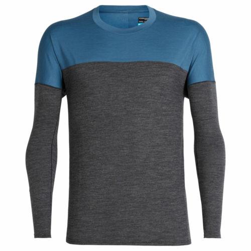 Icebreaker Kinetica LS Crewe Men Herren Langarm-Sport-Shirt mit Merinowolle