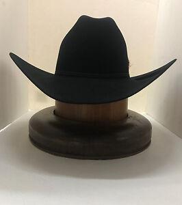 e89aade14 RESISTOL 6X Dalton Beaver Fur Hat-BLACK- New W /tags+FREE hat brush+ ...