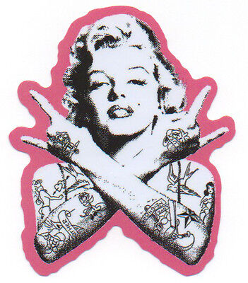 PUNK MARILYN MONROE Sticker Decal for Skateboards Scooters Phone Guitar Case