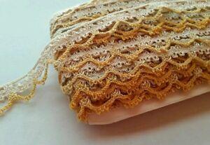Vintage-Lace-Trim-Edging-Pumpkin-Autumn-Sewing-Yardage-Doll-Yards-Yardage