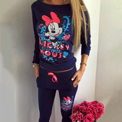 2Pcs Women Tracksuit Hoodie Sweatshirt Tops Pants Set Casual Jogging Sports Suit