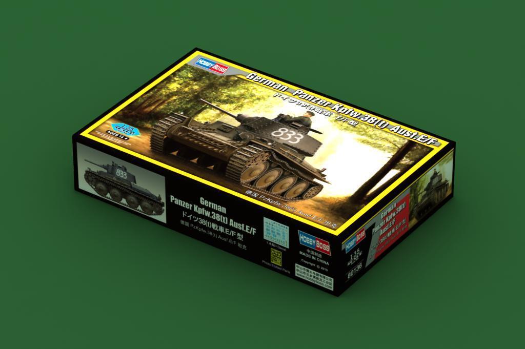 80136 trumpetare Tyska PzKpfw.38 (t) AuSF.E  F Tank Statisc 1  35 modelllllerlerl Kit
