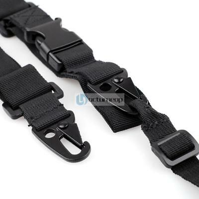 Tactical 3-Points Rifle Gun Sling Strap Lanyard Hook Rifles for Outdoor Hunting